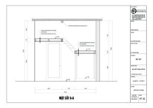 Mặt cắt theo chiều đứng: độ cao của tầng 2 và tầng 3