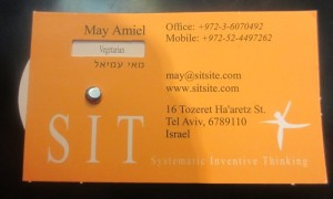 Business card after appying Multiplication