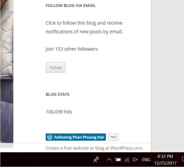 Blog 100K view